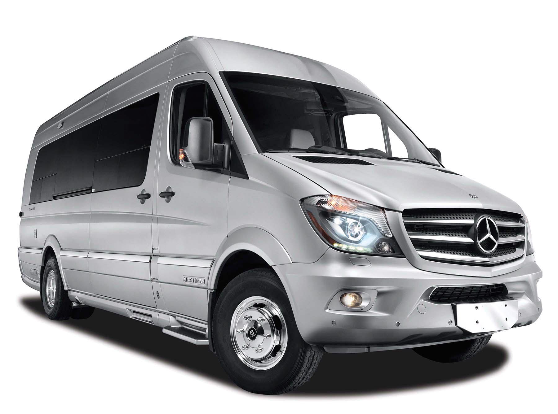 White bus Mercedes Benz Sprinter