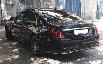 Black Mercedes Benz S-Class From inside